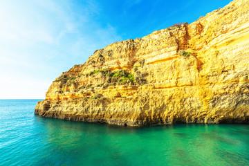 A View of Benagil beach in Algarve region, Portugal, Europe