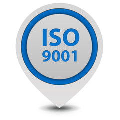Iso 9001 pointer icon on white background