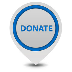 Donate pointer icon on white background