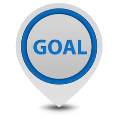 Goal pointer icon on white background