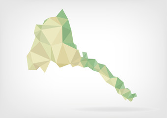 Low Poly map of Eritrea