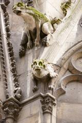 Paris, Notre Dame gargoyles statues