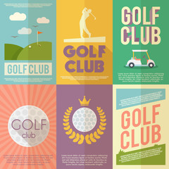 Golf Poster Set