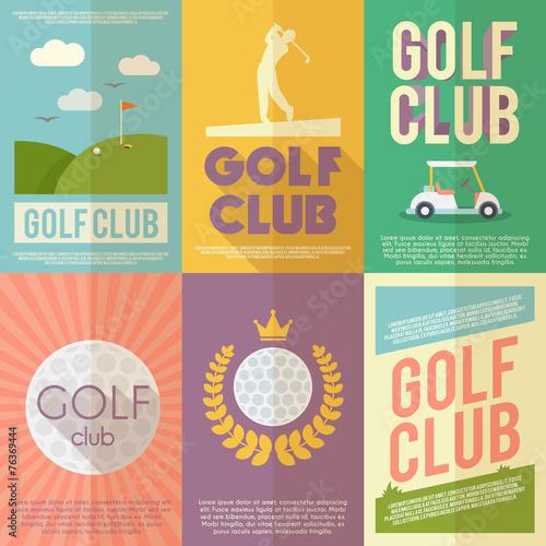 Fototapeta Golf Poster Set