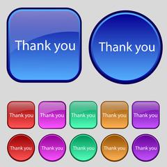 Thank you sign icon. Gratitude symbol. Circles and