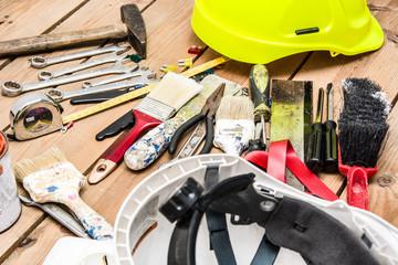 tools on wood