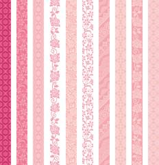 可愛い ガーリー素材 縦ライン 10種類