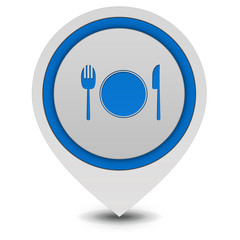 Menu pointer icon on white background