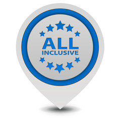 All inclusive pointer icon on white background