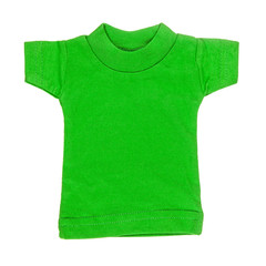 Green t-shirt over white
