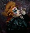 Gothic witch. Dark woman.