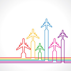 Abstract background with airplane stock vector