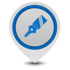 Pen pointer icon on white background
