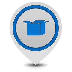 Box pointer icon on white background