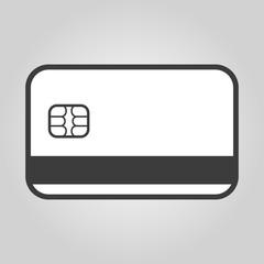 The credit card icon. Bank Card symbol.