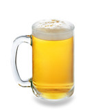 Glass of beer isolated on a white background - 76370860