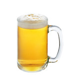 Glass of beer isolated on a white background - 76370882