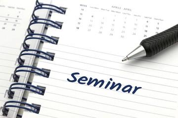 """""""Seminar"""" - Eintrag im Kalender"""