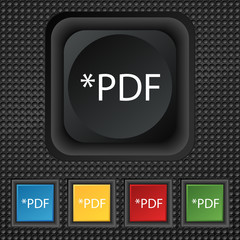 PDF file document icon. Download pdf button. PDF