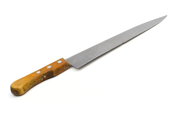 knife on the white background