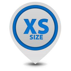 XS size pointer icon on white background