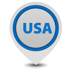 Usa pointer icon on white background