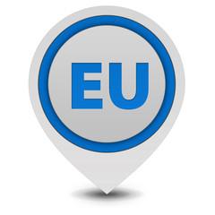 EU pointer icon on white background