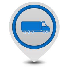 Truck pointer icon on white background