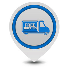 Free shipping pointer icon on white background