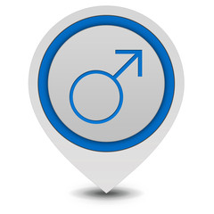 Male pointer icon on white background