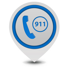 Emergency pointer icon on white background