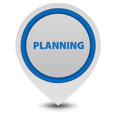 Planning pointer icon on white background
