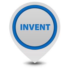 Invent pointer icon on white background