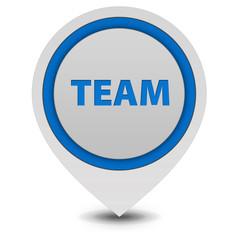 Team pointer icon on white background