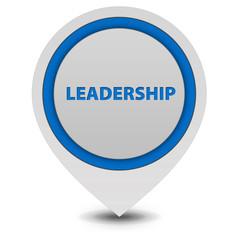 Leadership pointer icon on white background