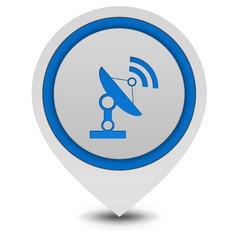 Satellite pointer icon on white background