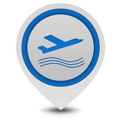 Plane pointer icon on white background