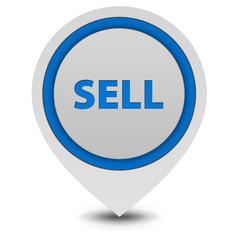 Sell pointer icon on white background