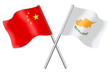 Flags: China and Cyprus