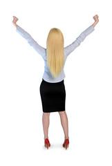 Business woman winner
