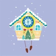 Clock winter