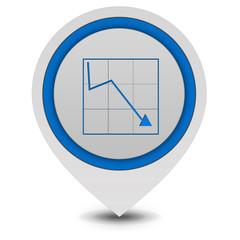 Data analysis pointer icon on white background