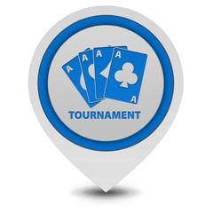 Tournament pointer icon on white background