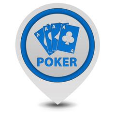 Poker pointer icon on white background