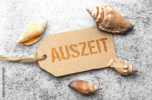 canvas print picture Auszeit