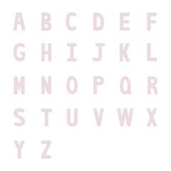 Stripes pattern alphabet letters2
