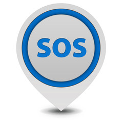 SOS pointer icon on white background