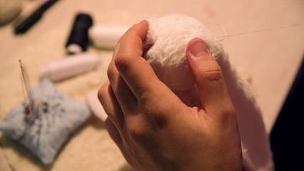 Girl Sewing Tilda Toy