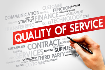 Quality of Service words cloud, business concept