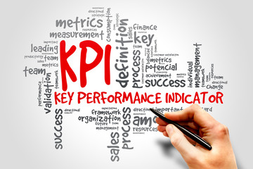 KPI Key Performance Indicator related items words cloud